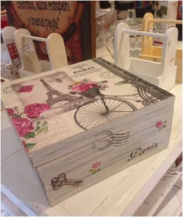 Decoupage wood crafts